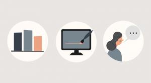 ikoner med behandling af data fra digital markedsføring